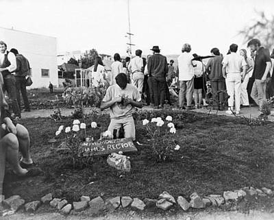 Amputee Photograph - Bloody Thursday  Memorial by Underwood Archives