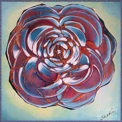 Abstract Rose Painting - Bloom II by Shadia Derbyshire