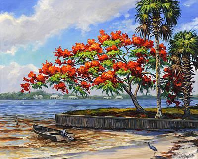 Dingy Painting - Bloom On The River by Kevin Hutchinson