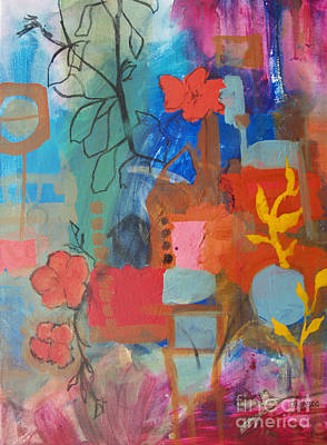 Bloom Where You Are Art Print by Robin Maria Pedrero