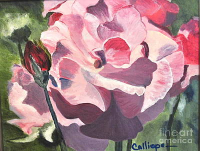 Painting - Bloomed Rose by Calliope Thomas