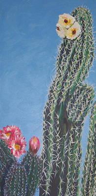 Bloomin Cactus Art Print by Marcia Weller-Wenbert