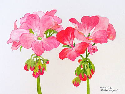 Painting - Blooming 1 by Mary Ellen Mueller Legault