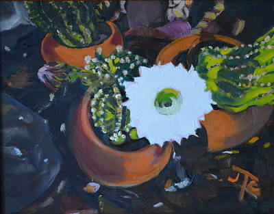 Painting - Blooming Cacti by Julie Todd-Cundiff