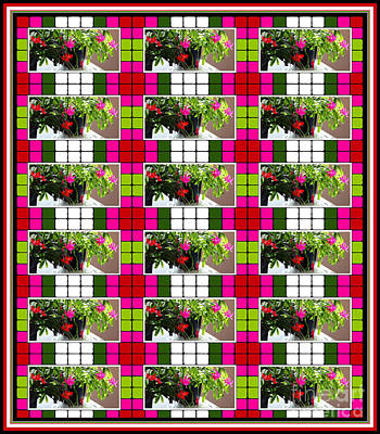 Houseplant Digital Art - Blooming Cactus by Barbara Griffin