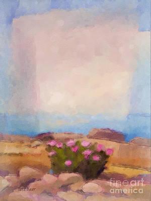 Sea Watercolor Painting - Blooming Coast by Lutz Baar