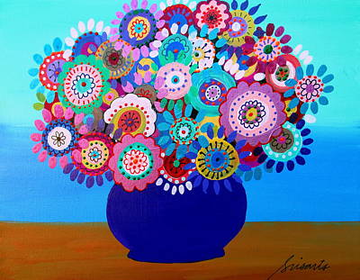 Painting - Blooming Florals 1 by Pristine Cartera Turkus