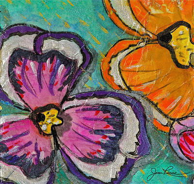 Painting - Blooming Flowers by Joan Reese