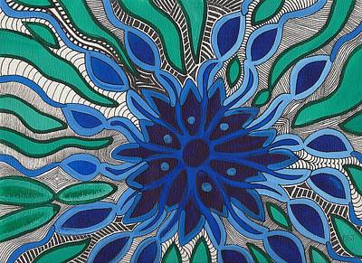Painting - Blooming In Blue by Barbara St Jean