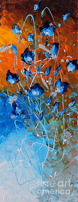 Painting - Blooming In Blue by Preethi Mathialagan