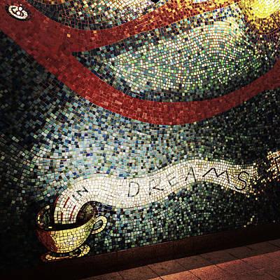 Nyc Subway Mosaic Photograph - Blooming - In Dreams by Natasha Marco