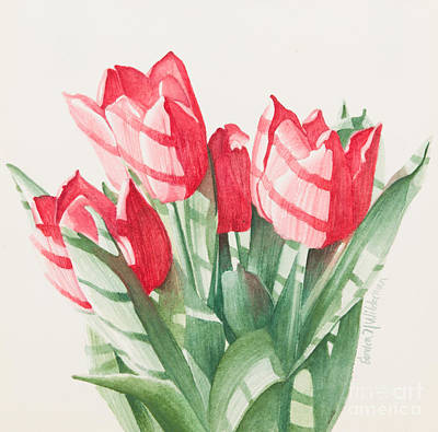 Painting - Sunlit Tulips by Sandra Neumann Wilderman