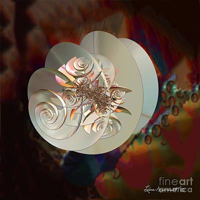 Blooming Spiral Art Print