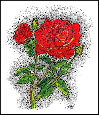 Drawing - Blooming Too by Glenn McCarthy Art and Photography