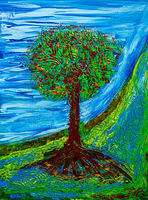 Painting - Blooming Tree by Jutta B