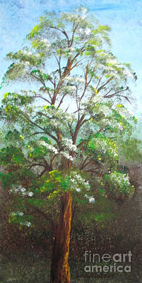 Blooming Tree Art Print by Roni Ruth Palmer
