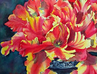 Painting - Blooming Tulips by Liana Yarckin