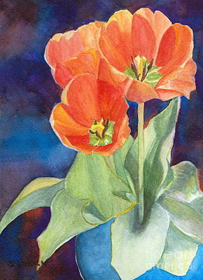Blooming Tulips Art Print by Sandy Linden