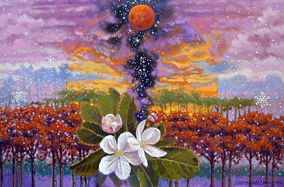 Painting - Blooming Universe by John Lautermilch
