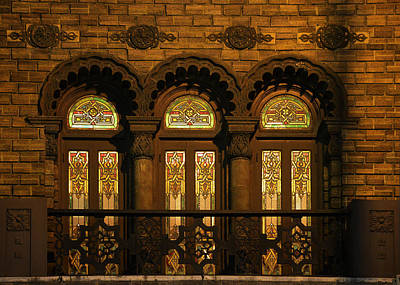 Stained Glass 3 Photograph - Bloomingdale's At Home In Chicago's Medinah Temple by Christine Till