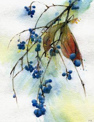 Bloomington Indiana Berries Art Print by John Christopher Bradley