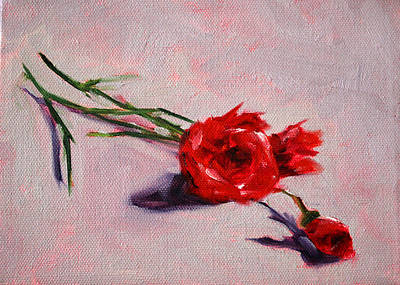 Painting - Blooms by Nancy Merkle