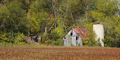 Photograph - Bloomsdale Barn by Harold Rau