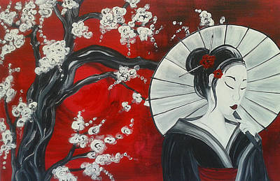 Cherry Blossoms Painting - Blossom by Christie Clunan