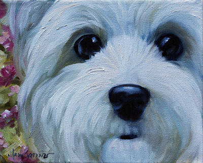 Puppy Dog Eyes Painting - Blossom by Mary Sparrow