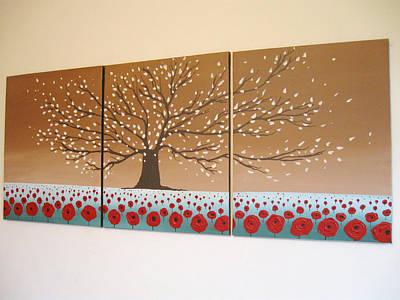 Handmad Painting - Blossom Hill Art Handmade Original Painting by Stuart Wright