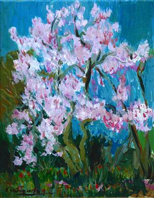 Painting - Blossoming Magnolia by Edward Ching