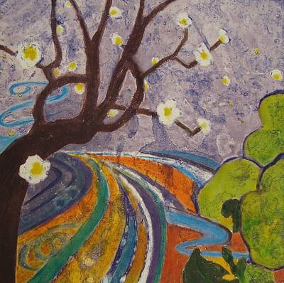 Tree Blossoms Mixed Media - Blossoms 1 by Karen Coggeshall