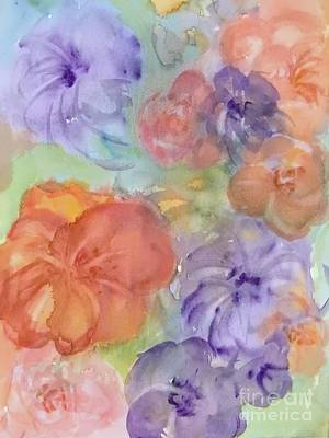 Painting - Blossoms IIi Abstract by Ellen Levinson