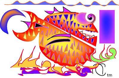 Blow Fish Digital Art - Blow Fish by Andy Cordan