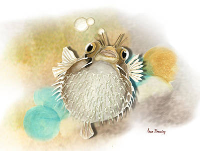 Painting - Blowfish by Anne Beverley-Stamps