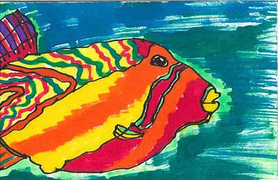 Puffer Fish Drawing - Blowfish by Don Koester
