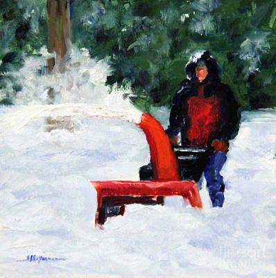 Painting - Blowing Away Winter by Shelley Koopmann