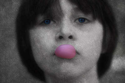 Blowing Bubbles Print by Melanie Lankford Photography