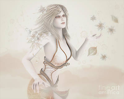 Digital Art - Blowing In The Wind by Jutta Maria Pusl