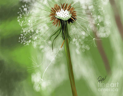 Digital Art - Blowing In The Wind by Maria Schaefers