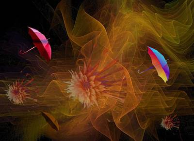 Digital Art - Blowing In The Wind by Nancy Pauling