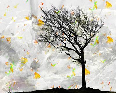 Blowing It The Wind Art Print