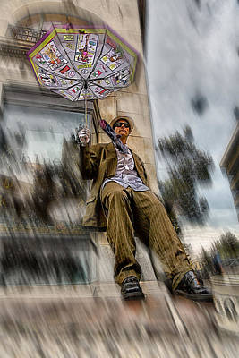 Asheville Mixed Media - Blown Away by John Haldane