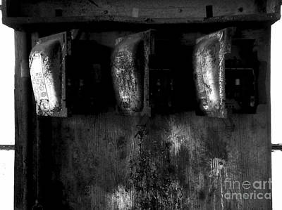 Fused Photograph - Blown Fuses - Bw by James Aiken