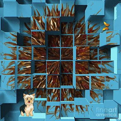 Puppy Mixed Media - Blowout by Liane Wright