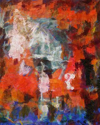 Art Print featuring the digital art Blows Away In The Wind by Joe Misrasi