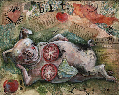 Lettuce Mixed Media - Blt And A by Patti Mann