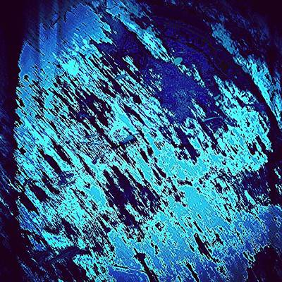 Colour Wall Art - Photograph - Blu Abstract 3 by Jason Michael Roust