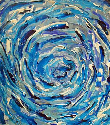 Dolphine Painting - Blu Antyc    Sold by Cyryn Fyrcyd
