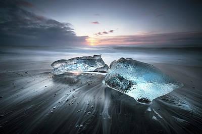 Frozen Photograph - Blu Ice by Nicola Molteni